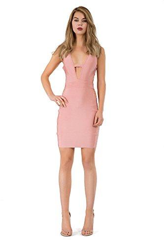 Lusty Damen Rose Chic Schlauch Kleid v4wr7qvP