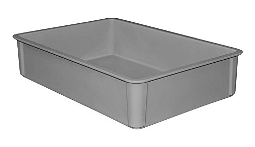 MFG Tray 8800085136 Toteline Stacking Container, Glass Fiber Reinforce, Plastic Composite, 25.75'' x 17.75'' x 6'', Gray by MFG Tray