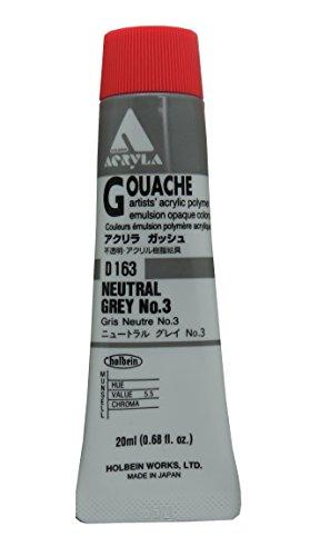 Holbein Acryla Gouache Neutral Gray No.3 (A) (Gray Gouache)