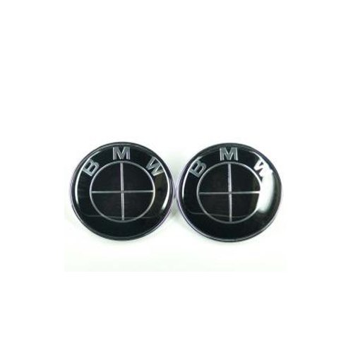 bmw emblem 82mm black - 6