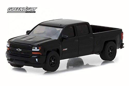 2018 Chevy Silverado 1500 Z71 Crew Cab Pickup Truck, Black - Greenlight 29941/48 - 1/64 Scale Diecast Model Toy Car ()