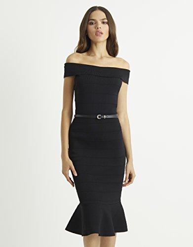 Schwarz Gürtel Kleid Damen Glockensaum Lipsy Mit Und 4XwqXYZ
