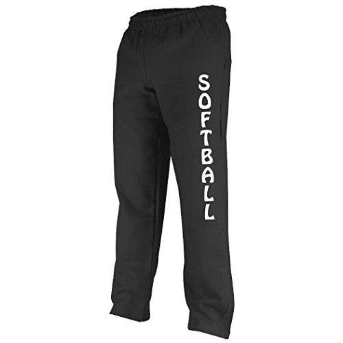 (ChalkTalkSPORTS Softball Fleece Sweatpant Softball Black,)
