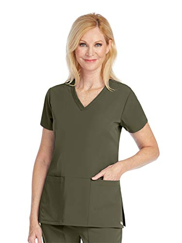 - Grey's Anatomy Signature 2115 V-Neck 3 Pocket Top Olive XXS