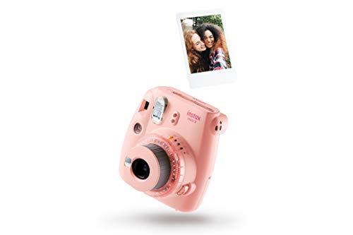 Cámara instantánea Fujifilm Instax mini 9 Rosa Claro + carga 10 fotos.