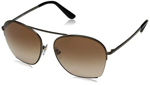 DKNY Women's 0dy5086 Square Sunglasses, Matte Dark Bronze, 57.0 ()