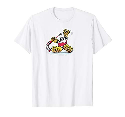 Small Saves Cartoon Ice Hockey Goalie Great GLOVE SAVE Stop T-Shirt ()