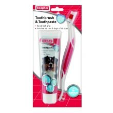 BEAPHAR UK Beaphar Toothbrush & Toothpaste Pack sgl pack of 1