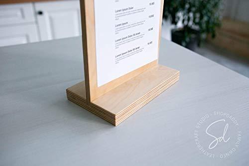 Menu Clipboard Birch Plywood Customisable Wooden