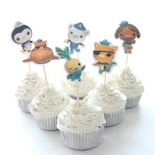 Octonauts Cupcake Toppers Birthday Party Supplies Favors Pack of 24 -