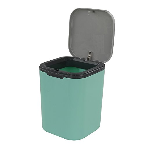 Mini Compost - HOMMP Recycled Tiny Desktop Trash Can, Car Waste Can, 0.5 Gallon (blue)
