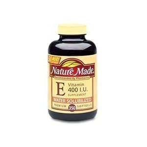 Nature Made Vitamin E 400 IU Water Soluble 350 Softgels (400 E Iu Vitamin)