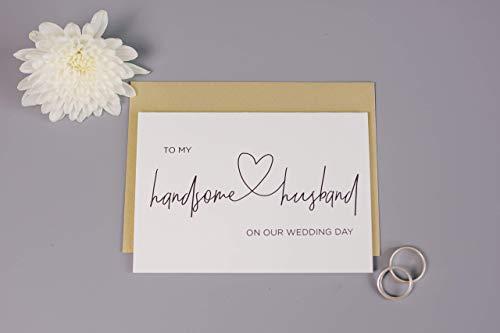 Handsome Husband Bride to Groom Wedding Day Card (Greeting Card For Husband On Wedding Day)