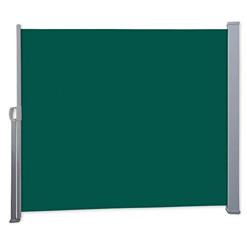 Nemaxx SCA160 Seitenmarkise 160x300 cm - idealer Windschutz Sonnenschutz Sichtschutz - Markise grün - nach DIN EN13561