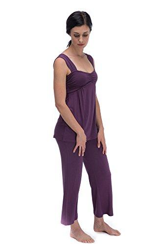 BTPJ700 Med Aster Cleo BambooDreams Knit Tank Top Pajama Set