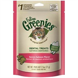 Greenies Dental Treats For Cats Salmon Flavor 3.0 oz For Sale