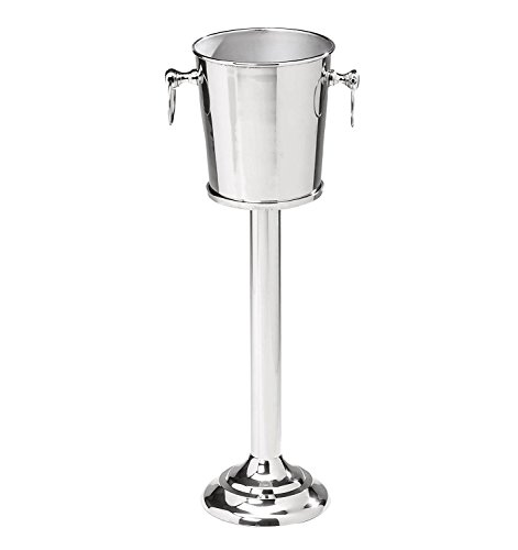 Nickel Plated Premium Aluminum Free Standing Wine Chiller | Wine Coolers & Cellar With Ice Bucket | Kitchen & Bar Wares | Nagina International by Nagina International