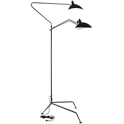 Modway view stainless steel floor lamp black usame modway view stainless steel floor lamp black aloadofball Image collections