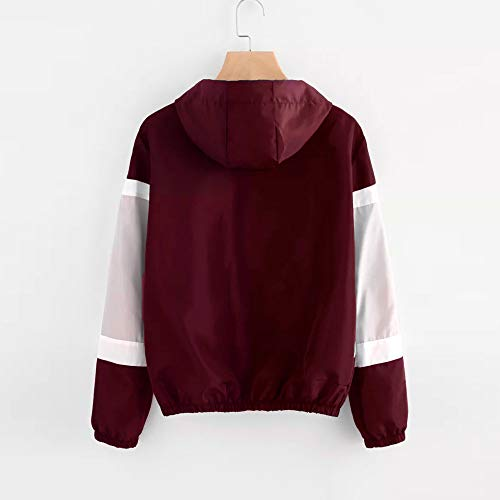 Pockets Patchwork Winter Sleeve Autumn Clearance Sport Red Fashion Long Thin DEELIN Zipper Sale Tops Sweatshirt Women Hoodie Skinsuits Coat Hooded qaPxvBXw