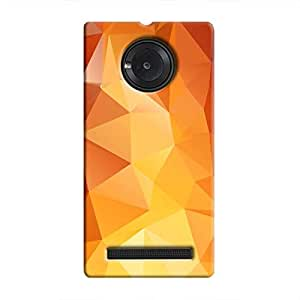 Cover It Up - Orange White Pixel Triangles Micromax YU Yuphoria Hard Case