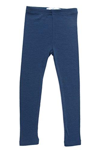Simply Merino Wool Kids Blue Thermal Bottoms. Underwear Base Layer PJ. Size 11-12, Blue Night