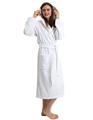 TowelSelections Turkish Cotton Hooded Bathrobe Terry Velour Robe Made in Turkey
