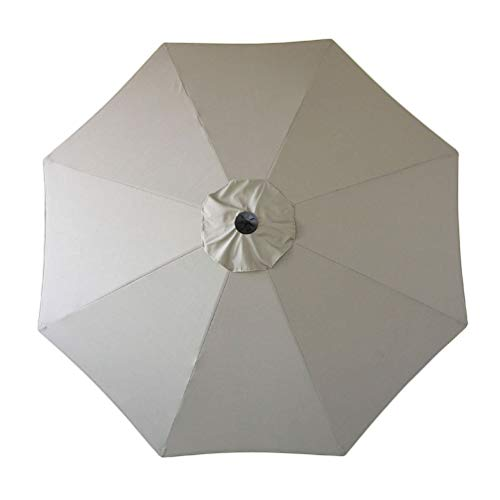Sunbrella Umbrella Canopy Replacement Only for 9' Patio Umbrella 9 FT 8 Ribs Outdoor Garden Umbrella Top Replacement Sunbrella Canvas Taupe (Sunbrella Canopy Only, Sunbrella Taupe)