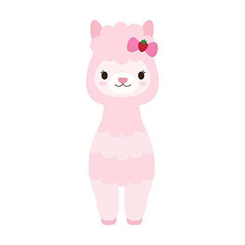 (Pastel Pink Adorable Llama - 4 Inch Full Color Vinyl Decal for Indoor or Outdoor use, Cars, Laptops, Décor, Windows, and more)