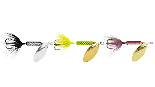 Yakima Bait Rooster Tail Trophy PAK 1/16oz Spinner Assortment, 3 Pack- Bl, CHR, Rbow Mix ()