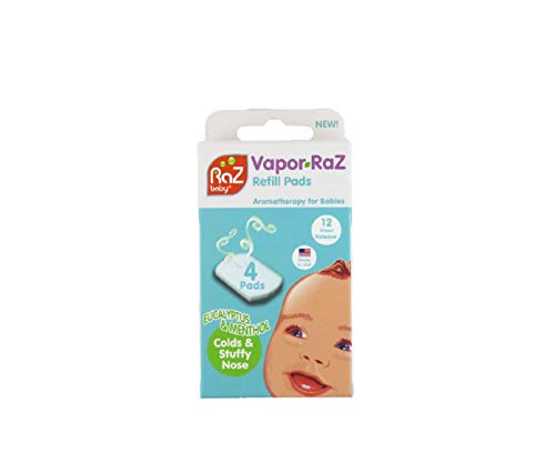 - Vapor-RaZ Refill Pads/Eucalyptus & Menthol/Soothing Aromatherapy for Colds & Stuffy Nose / 4 Pack