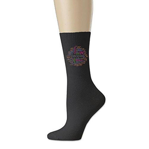 Rongyingst Word Cloud Unisex Soft Comfortabl Cotton Socks Funny Warm Crew Dress Socks Black