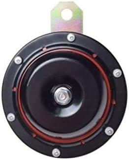 100 mm Durchmesser 6 Volt Motorrad Hupe Universal schwarz mit rotem Kern