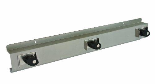 Bradley 9953-000000 Stainless Steel 3 Hooks Mop and Broom Holder, 24