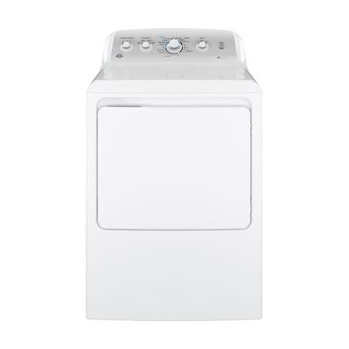 GE GTD45EASJWS Aluminized Alloy Drum Electric Dryer with HE Sensor Dry, 7.2 Cu. Ft. Capacity, White,
