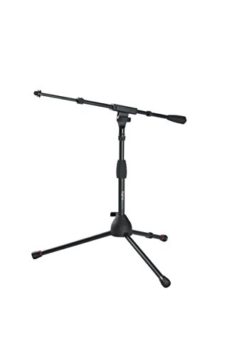 - Gator Frameworks Short Tripod Base Microphone Stand with Soft Grip Twist Clutch, Boom Arm, and Both 3/8