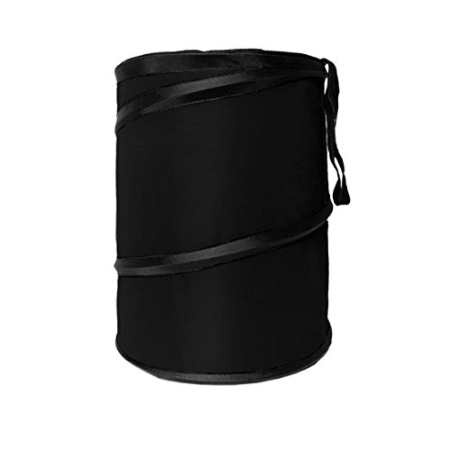 (FH Group FH1121BLACK Black Car Garbage Trash Can (Collapsible and Compact Size Large))