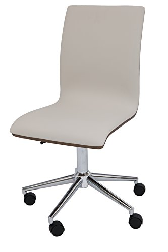 (Impacterra QLYA1697997869 Yatasto Task Chair, Chrome/Walnut Veneer/PU)