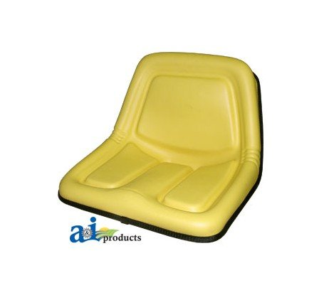 TY15863 Seat High Back Yellow Fits John Deere:STX30,STX38,130,160,165,316,318, by A&I