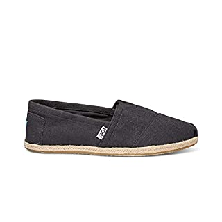 TOMS Men's Rope Sole Classics Washed Black Linen Rope Sole 13 D US (B013EUILOY) | Amazon price tracker / tracking, Amazon price history charts, Amazon price watches, Amazon price drop alerts