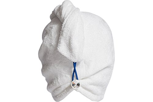 ENWRAPTURE The Only Luxury Hair Towel Wrap Made In USA   Swarovski Button   Nanofiber Beats Microfiber To Dry Wet Hair Fast   Twist Turban In 2 Easy Styles   Large For Long Or Curly   GIFT Travel Case by TURBELLA (Image #8)
