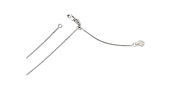 14k 1.00mm White Gold 22in Round Flat Cable Anchor Necklace Chain