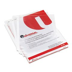 Universal Top-Load Poly Sheet Protectors, Standard, Letter, Clear, 100/box by Universal (Image #1)