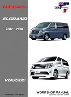 nissan elgrand e51 2002 2010 owners handbook english language edn rh amazon co uk