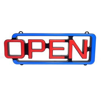 MystiGlo LED OPEN Sign with remote control