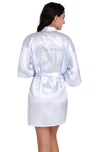 Blue Ddoq Matrimonio Cardigan Large Vestaglia Accappatoio Onore Nero Sezione Light D' nbsp;donne Damigella Uomini nbsp;– Sottile rHqrfZv