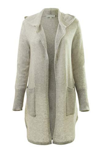 (White + Warren Women's Hooded Cardigan, Misty Grey Heather, X-Small)