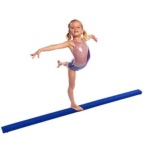 Giantex 8FT Folding Floor Balance Beam for Girls, Boys, Toddlers, Teens Sports Gymnastics Skill Performance Training Easy Storage (Blue)