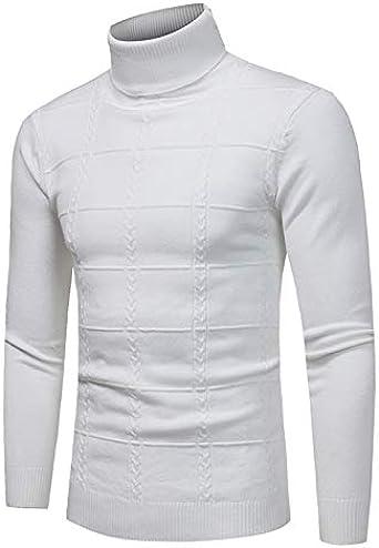Hombre Camiseta Térmica de Cuello Alto Top T-Shirt de Manga Larga Jersey Pulóver de Invierno Under-Sweater para Hombre Delgado