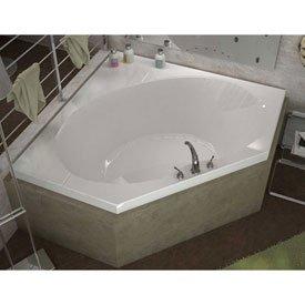 - Spa World Venzi Vz6060ear Luna Corner Air Jetted Bathtub, 60x60, Center Drain, White