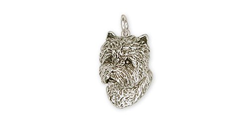 (Westie Charm Jewelry Sterling Silver Handmade West Highland White Terrier Charm WS7-C)